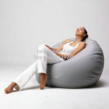 Cover only  No Filler -Modern style living room chairs bean bag waterproof sofa set furniture