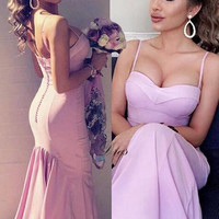 Spaghetti Straps Sweetheart Mermaid Prom Dresses