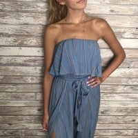 Upper Street Jumpsuit - Blue/Rust