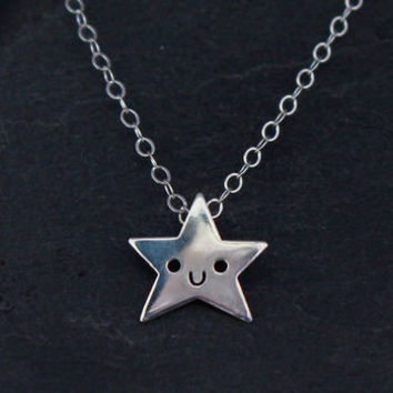 Doodllery Necklace - Silver Star   Little Moose   Cute bags, gifts, toys, jewellery and accessories from independent designers and famous brands