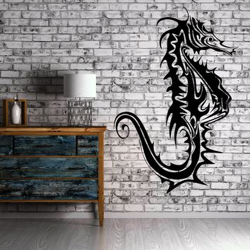 Seahorse Animal Marine Sea Bathroom Art Room Wall Sticker Vinyl Decal Unique Gift (ig2064)