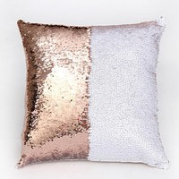 Home - Two-Tone Sequin Pillow Cover
