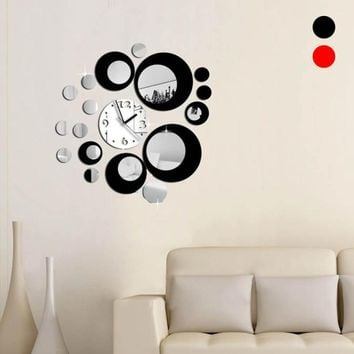 Removable Wall Stickers Europe Large Poster Wall Clock Home Living Room Decor Background Wall Decals