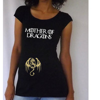 """Maternity Funny """"Mother of Dragons"""" Maternity Shirtt"""