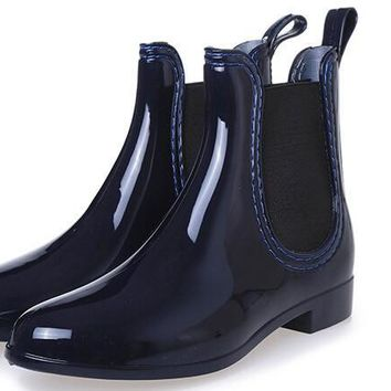 Rubber Waterproof Chelsea Boots
