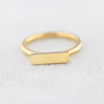 Minimal Thin Cubic Bar Rings For Women Men's Boho Jewelry Stainless Steel Gold Silver Color Ring Friendship Gifts