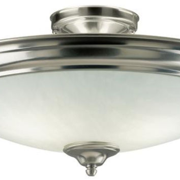 Two-Light Indoor Semi-Flush-Mount Ceiling Fixture
