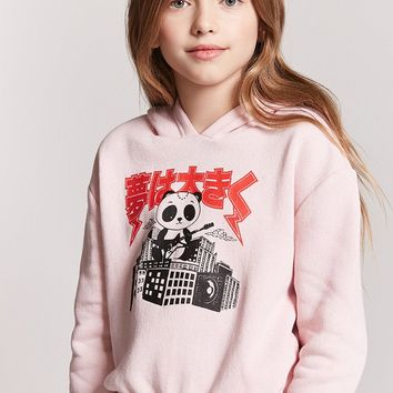 Girls Panda Graphic Hoodie (Kids)