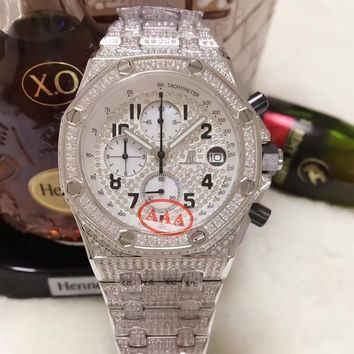 cc kuyou Audemars Piguet FULL DIAMOND WHITE HOT SALE