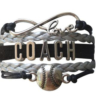 Softball Coach Infinity Bracelet