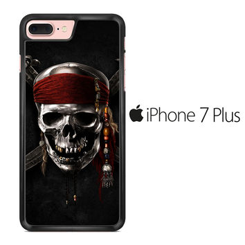 Pirates of Carribean Skull Logo iPhone 7 Plus Case