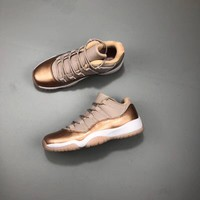 "Air Jordan 11 Low ""Rose Gold"" AJ11 Sneakers - Best Deal Online"