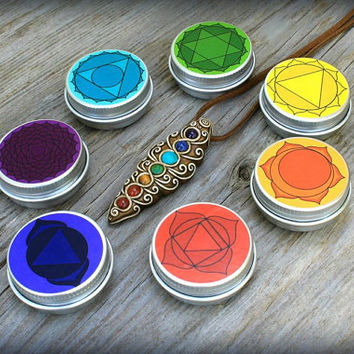 Chakra Balancing Gift Set *Pendant and Set of Balms