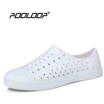 POOLOOP Unisex Summer Outdoor Breathable Flats Men's Casual Walking Sneakers Nativ Fashion Garden Clogs Cheap Work Shoes