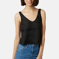 Women's Topshop 3D Stripe Crop Top