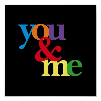 extreme color bold colorful poster you and me