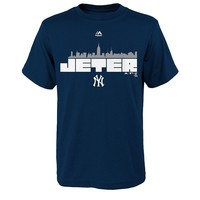 Majestic New York Yankees Derek Jeter Retirement Skyline Tee - Boys 8-20