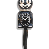 "Classic Black Lady Limited Edition Kit-Cat Clock (15.5"" high) - KitCatClock"