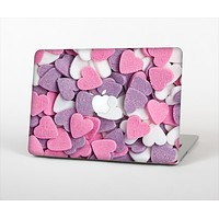 """The Pink and Purple Candy Hearts Skin Set for the Apple MacBook Air 13"""""""
