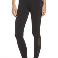 Alo Block High Waist Mesh Inset Leggings | Nordstrom