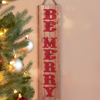 Wood Be Merry Wall Hanging Art Sign Merry Christmas Rustic Country Decor NEW
