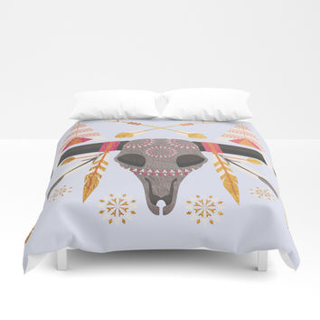 Boho Golden Child Duvet Cover by cadinera