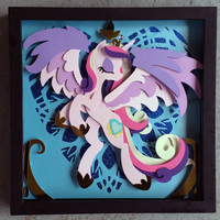 "12"" x 12"" Princess Cadance Shadowbox"