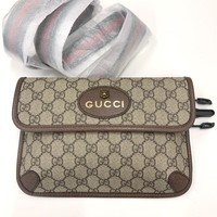 Gucci Women Leather Purse Waist Bag Shoulder Bag Crossbody