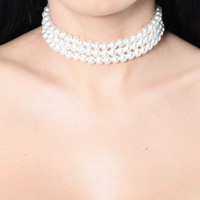 Classic Kind Of Lady Choker - Pearl