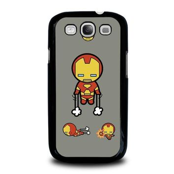 iron man kawaii marvel avengers samsung galaxy s3 case cover  number 1