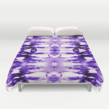 Tie Dye Purples Duvet Cover by Nina May Designs