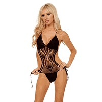Sexy Cut Out One Piece Crochet Swim Suit