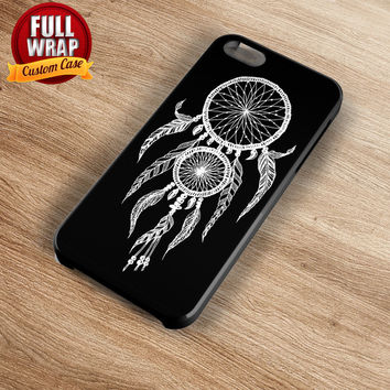 Black White Dreamcatcher Full Wrap Phone Case For iPhone, iPod, Samsung, Sony, HTC, Nexus, LG, and Blackberry