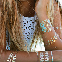 Blue Lagoon Temporary Tattoos