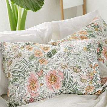Lovise Floral Jersey Pillowcase Set | Urban Outfitters