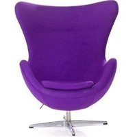 Lexington Modern Arne Jacobsen Egg Chair, Purple