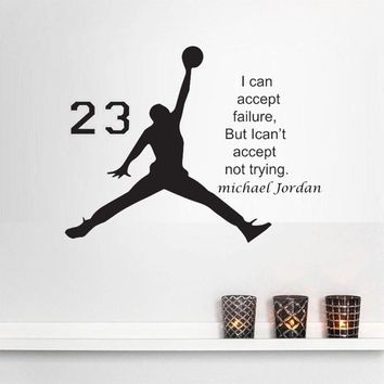Jordan basketball inspirational Wall Stickers