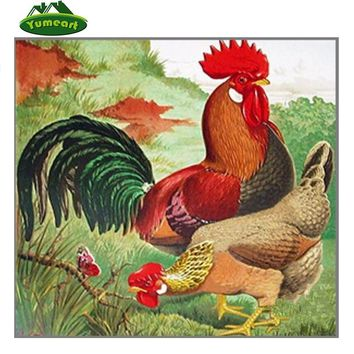 YUMEART DIY Diamond Painting Embroidery garden chicken animals Decorative Pictures Of Rhinestones Hobbies And Crafts Home Decor
