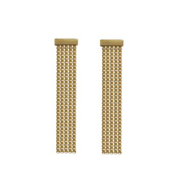 Laura Lombardi Verge Earrings - Gold Brass Box Chain Earrings