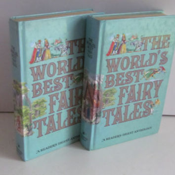 Book set PACKED FULL World's Best Fairy Tales Readers Digest Anthology Childrens Gift Set Fairy Book