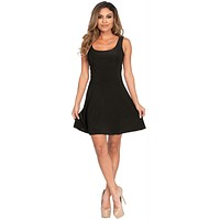 Basic Skater Dress Ad Black