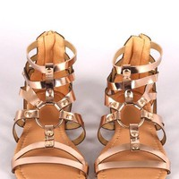 Rose Gold Gladiator Sandal