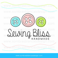 OOAK Premade Logo Design - Sewing Buttons - Perfect for a custom made clothing brand or a sewing supplies shop