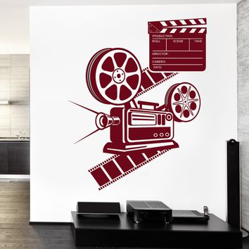 Wall Vinyl Decal Camera Cinema Movie Hollywood Decor Unique Gift z3765