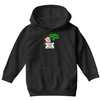 heapy new year funny santa claus christmas Youth Hoodie