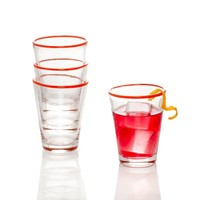 Color Pop Juice Glass - Orange