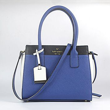 Kate Spade Stylish Ladies Leather Crossbody Handbag Shoulder Bag Satchel Blue I