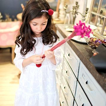 (Mommy & Me) Snow embroidered dress