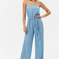 Strapless Chambray Jumpsuit