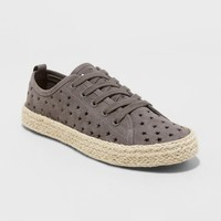 Women's Jena Espadrille Lace Up Sneakers - Universal Thread™ Gray